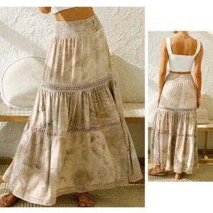 Boho Tie Dye Maxi Skirt NEW